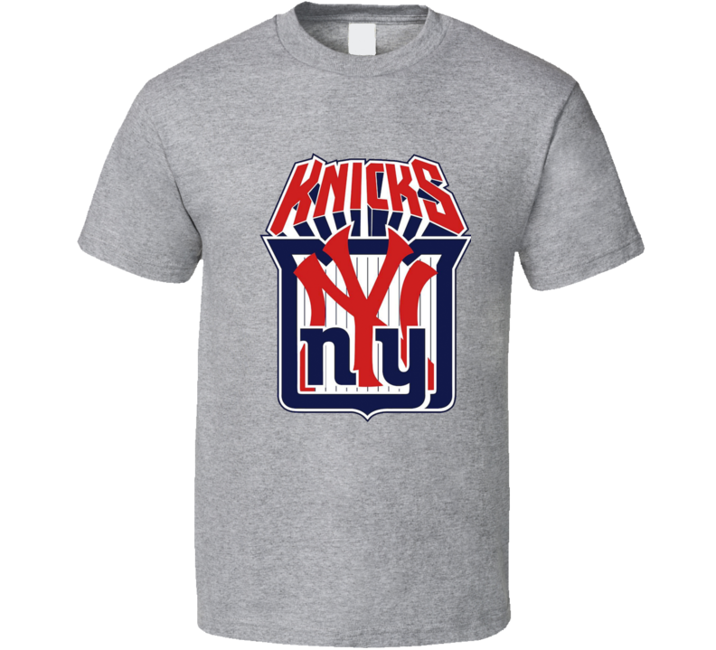 New York Giants Yankees Knicks Rangers Mashup T Shirt