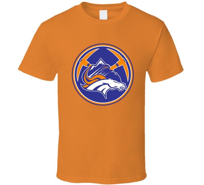 Denver Broncos Nuggets Rockies Avalance Mashup T Shirt