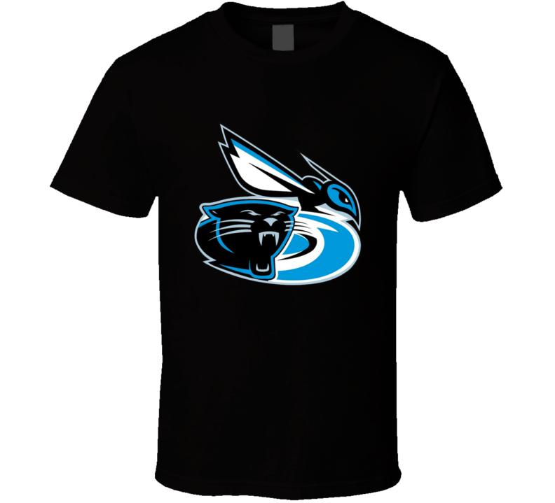 Carolina Panthers Huricanes Hornets Mashup T Shirt