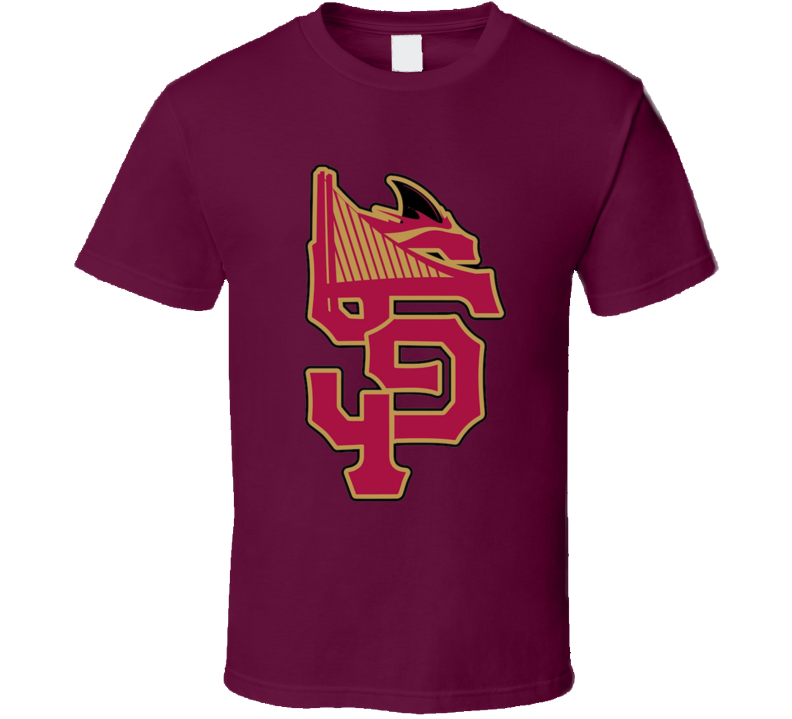 San Fransisco Niners Giants Sharks Warriors Mashup T Shirt