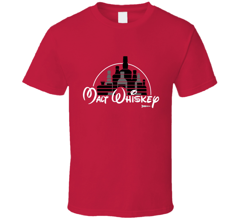 Malt Whiskey Not Walt Disney T Shirt