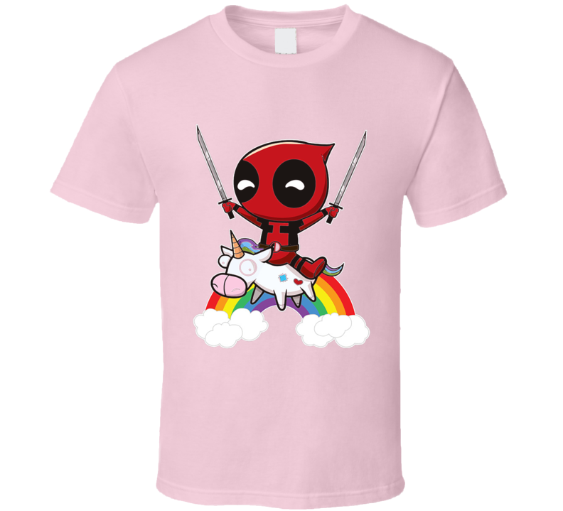 Deadpool Riding A Unicorn T Shirt