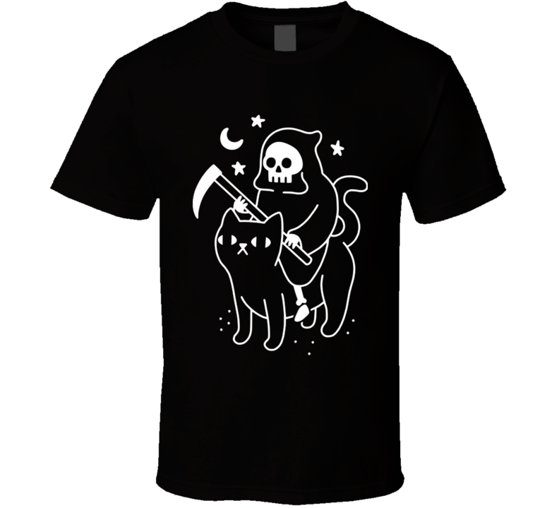 Death Rides A Black Cat T Shirt