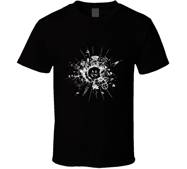 Black Mirrored T Shirt