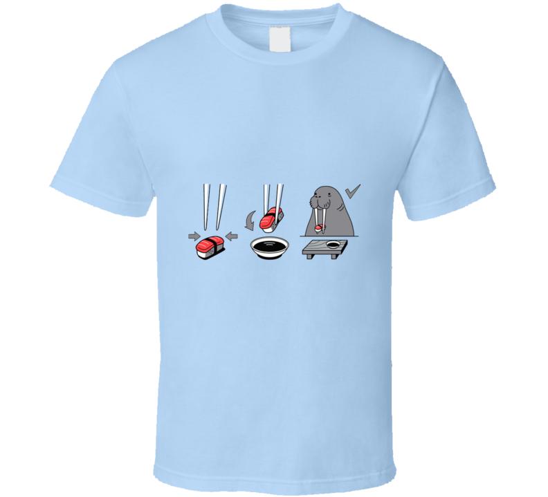 Sushi Lover Walrus T Shirt