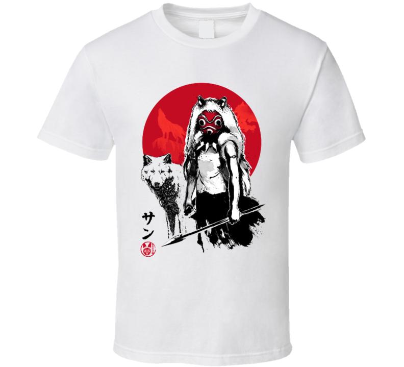 Wolf Girl Sumi-e T Shirt
