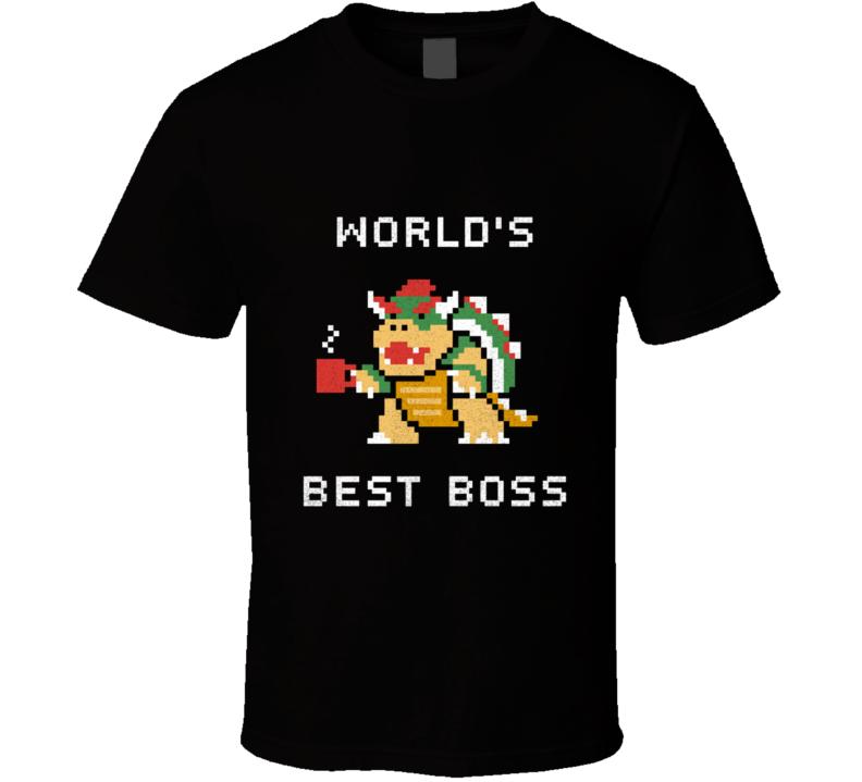 World's Best Boss Bowser T Shirt