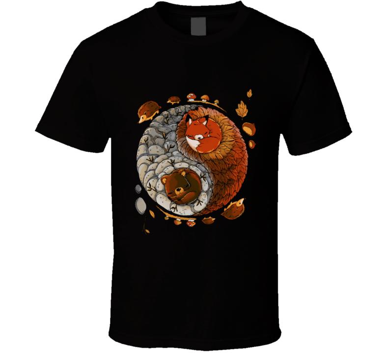 Yin Yang Autumn T Shirt