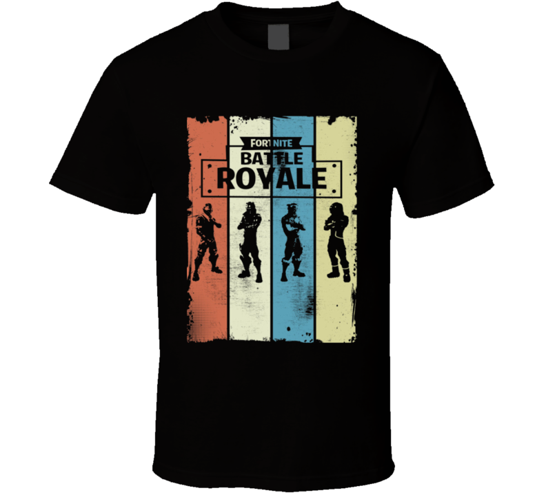 Retro Fortnite Battle Royale T Shirt