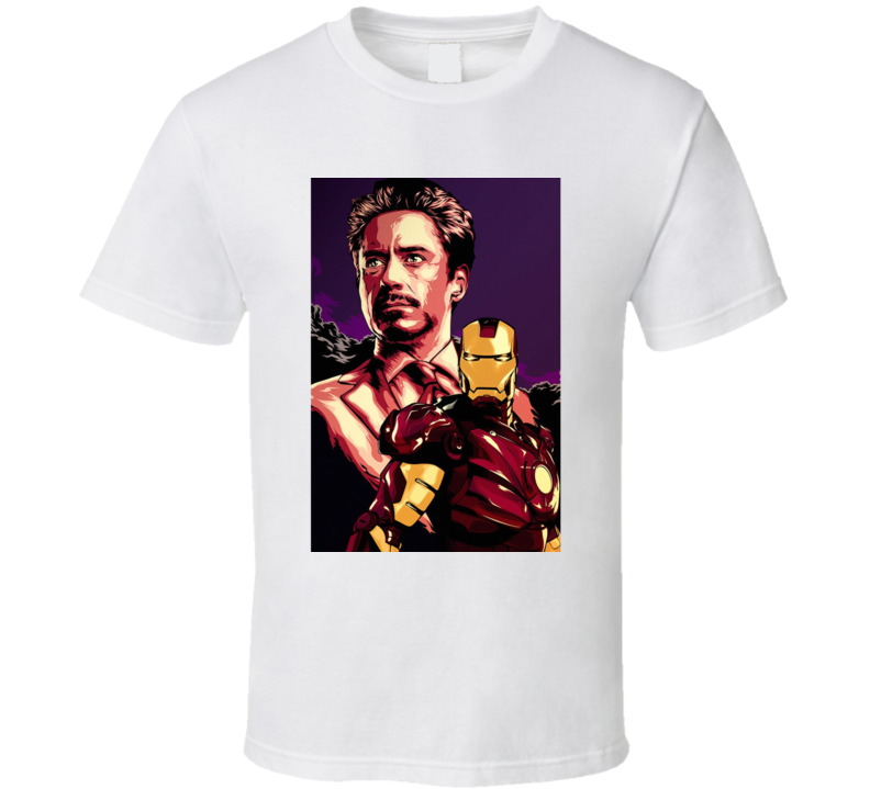 Iron Man Tony Stark Movie Fan T Shirt