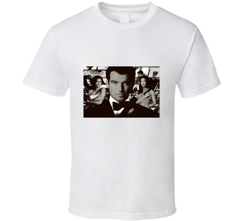 James Bond Tomorrow Never Dies Black And White T Shirt