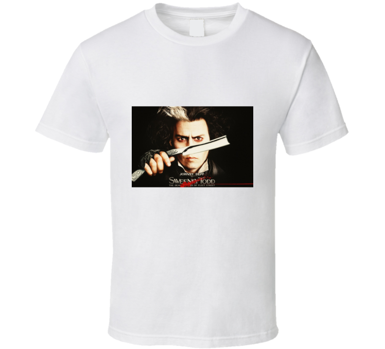 Johnny Depp Sweeney Todd Razor T Shirt