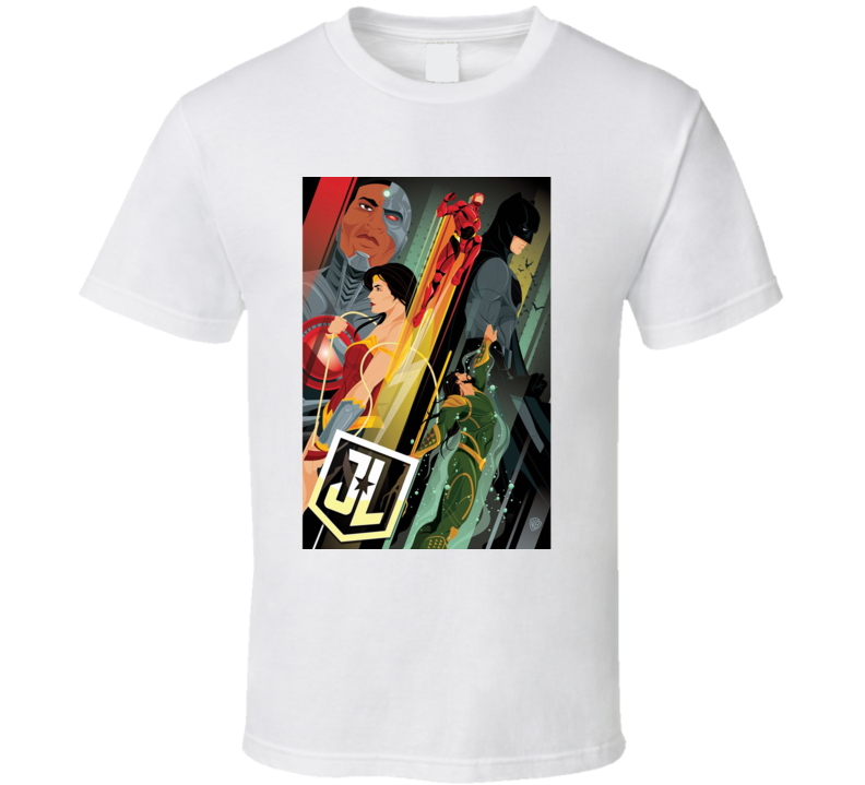 Justice League 2017 Movie Comics Art T Shirt