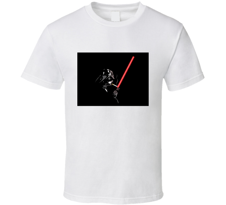 Smoking Darth Vader Star Wars Lightsaber Cigarette T Shirt
