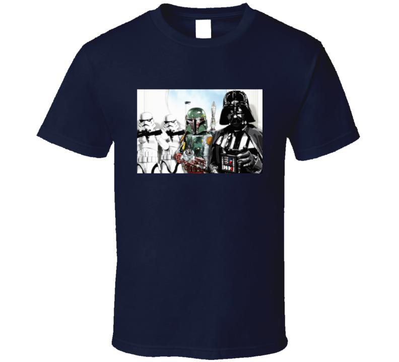 Star Wars Darth Vader Jango Boba Fett Clones T Shirt