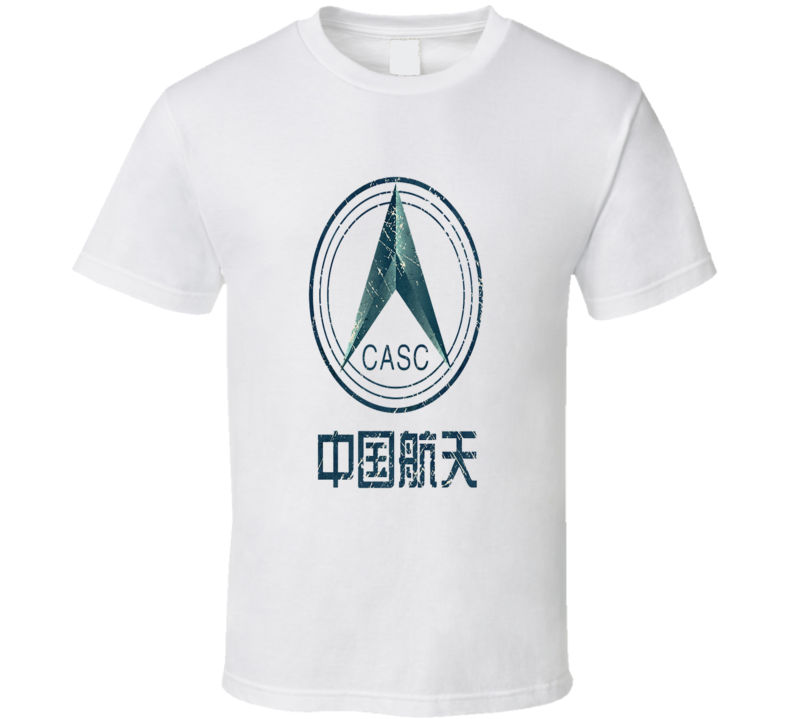 Casc Chinese Space Administration Vintage Emblem T Shirt