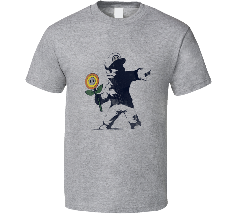 Banksy Fire Flower T Shirt