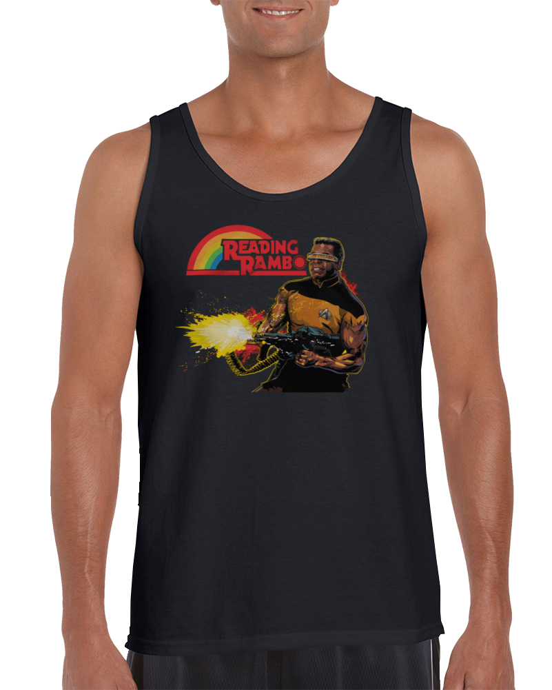 Reading Rambo - Geordi La Forge Tanktop