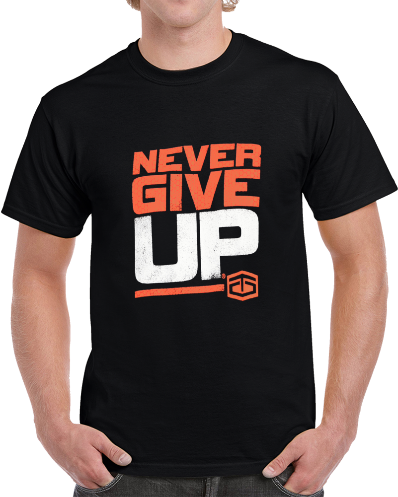 c01807165 Tapout Never Give Up Charcoal Heathe T Shirt