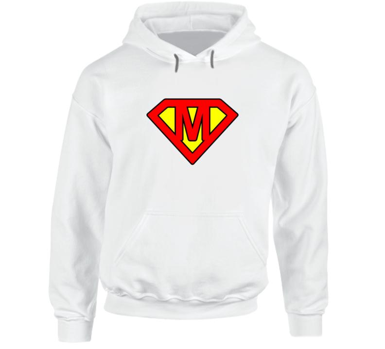 Superman Letter M Hoodie