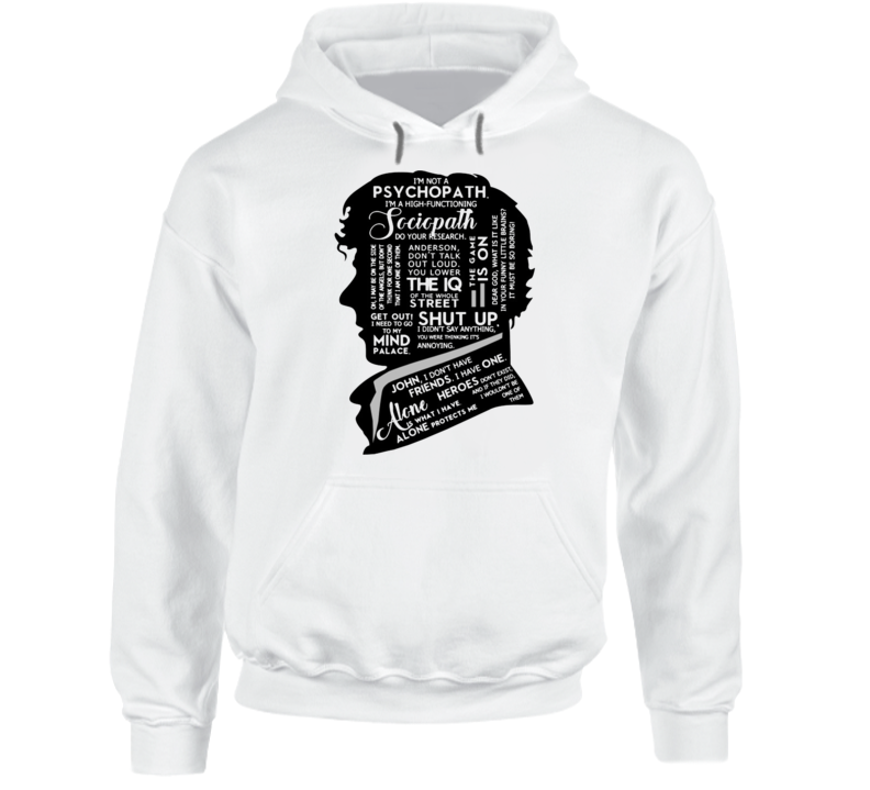 Sherlock Holmes Quotes Hoodie