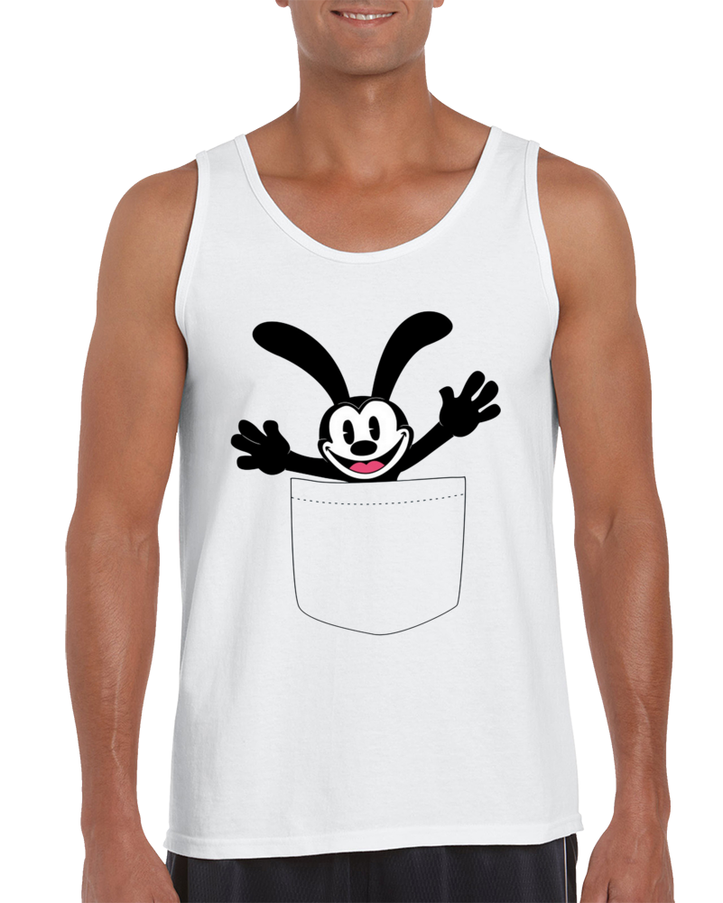 Oswald The Lucky Rabbit (pocket) Tank Top