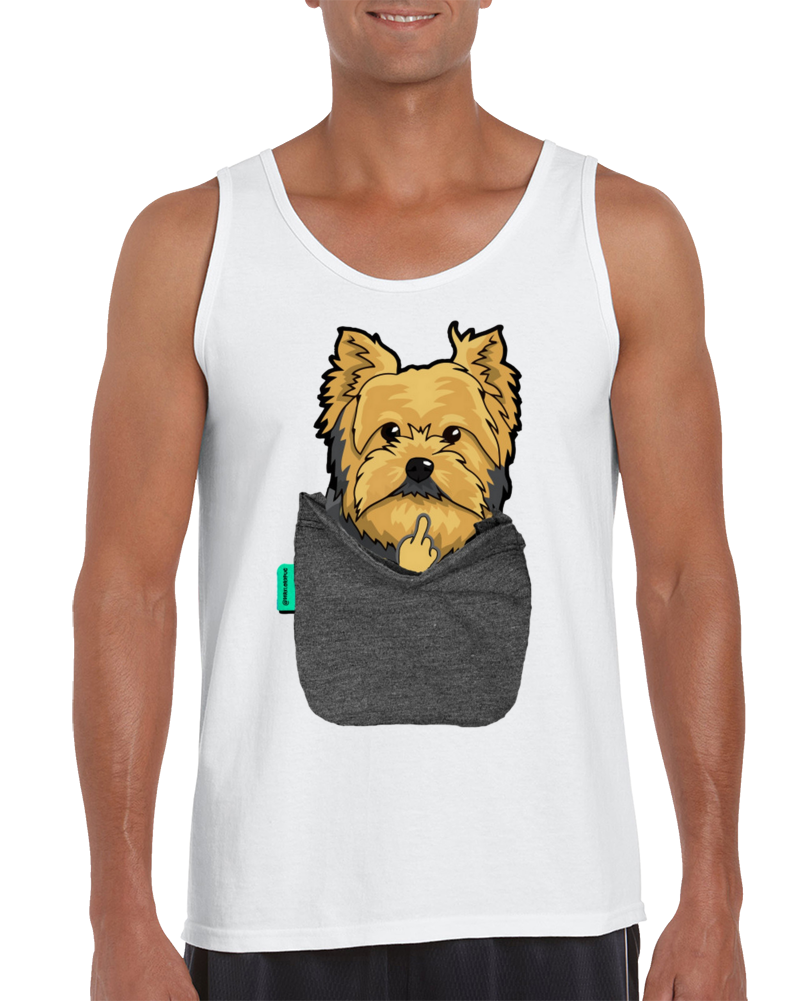 Yorkie Fu Pocket Tank Top