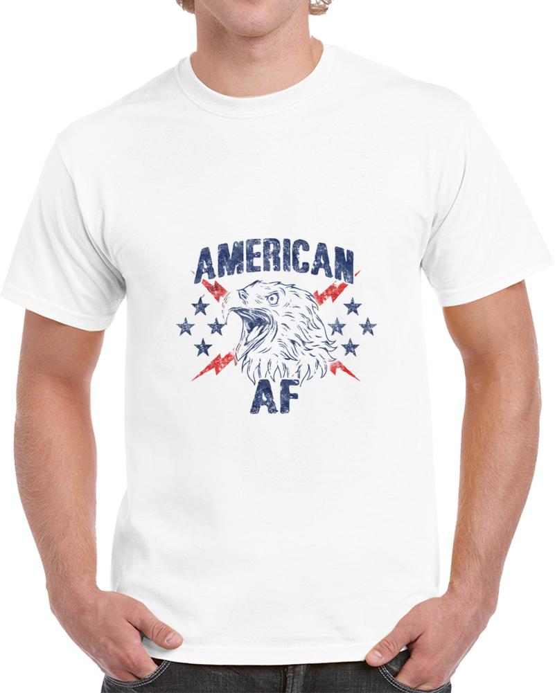 Aaf Eagle Logo White T Shirt