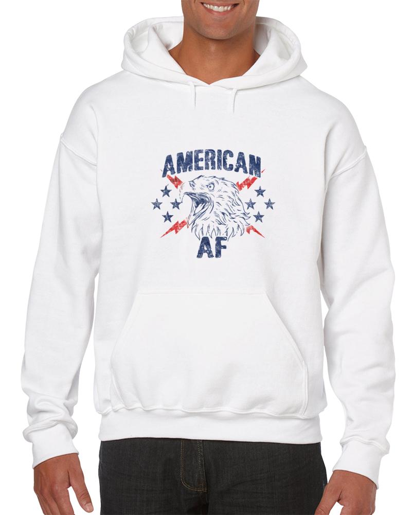 Aaf Eagle Logo White Hoodie