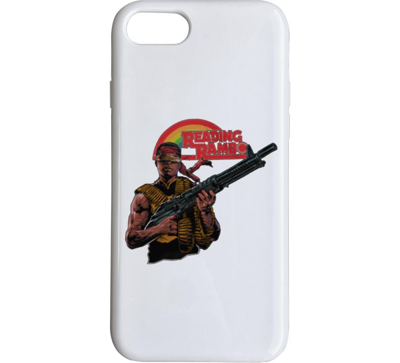 Reading Rambo - Geordi La Forge White Phone Case