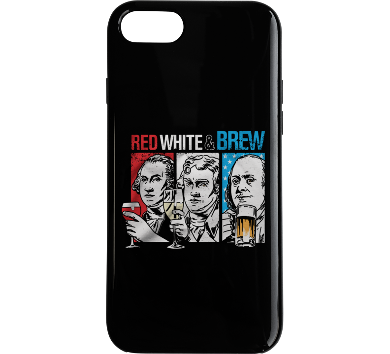 Red, White & Brew Phone Case