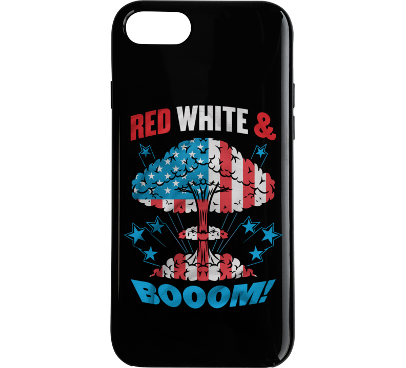 Red, White, And Boom Phone Case