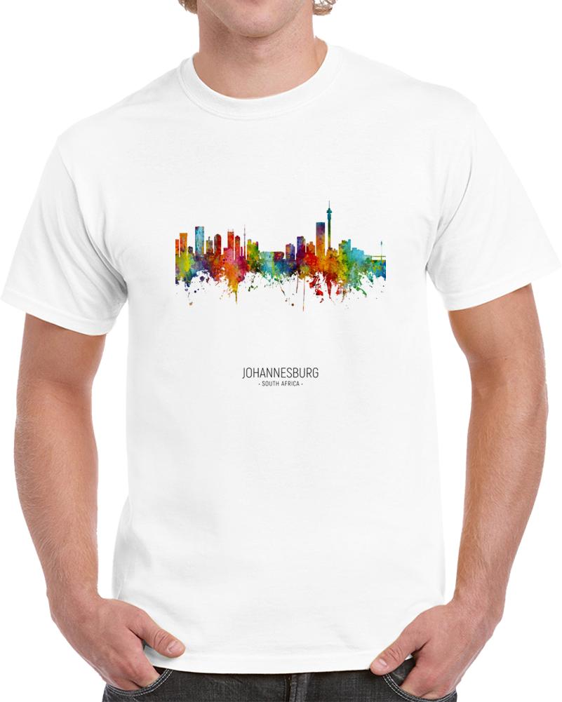 Johannesburg Rainbow Skyline T Shirt