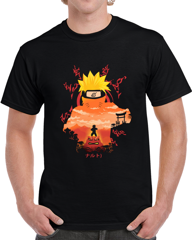 Hero Of The Hidden Leaf Negative Space T Shirt