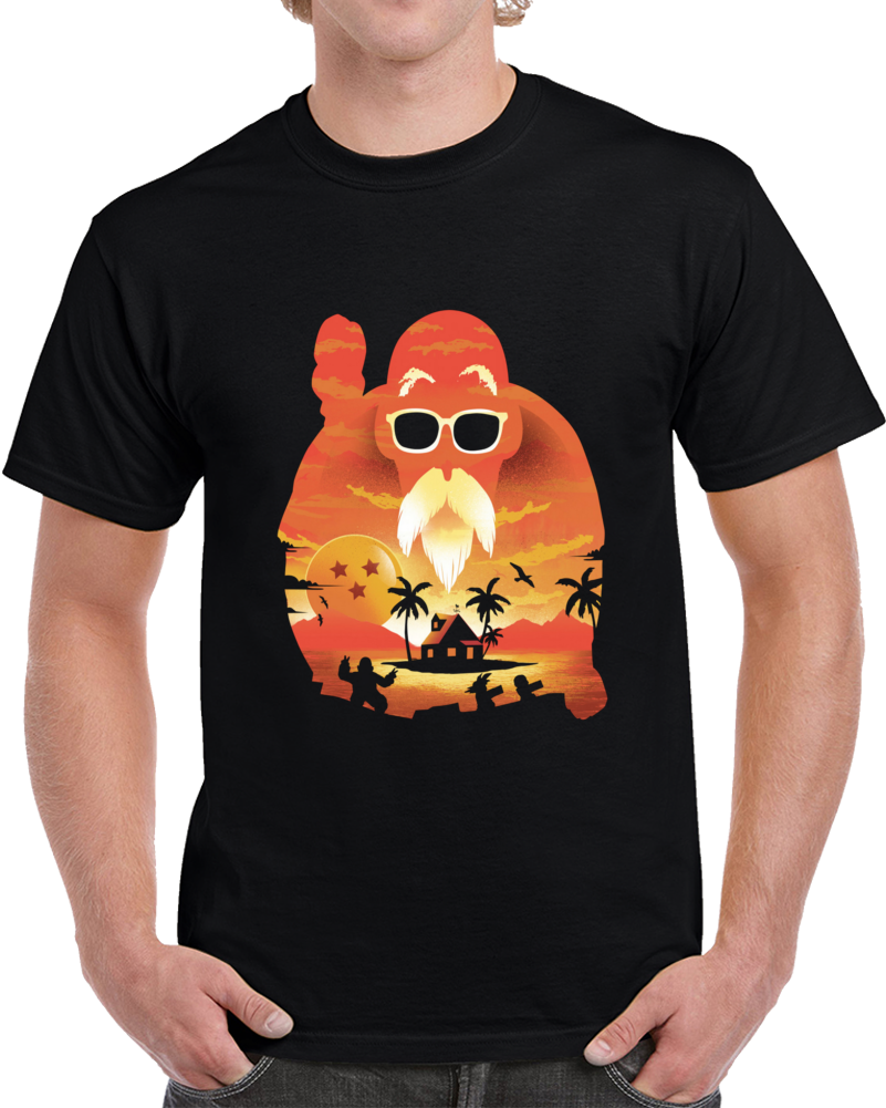 Kame Sunset Negative Space T Shirt