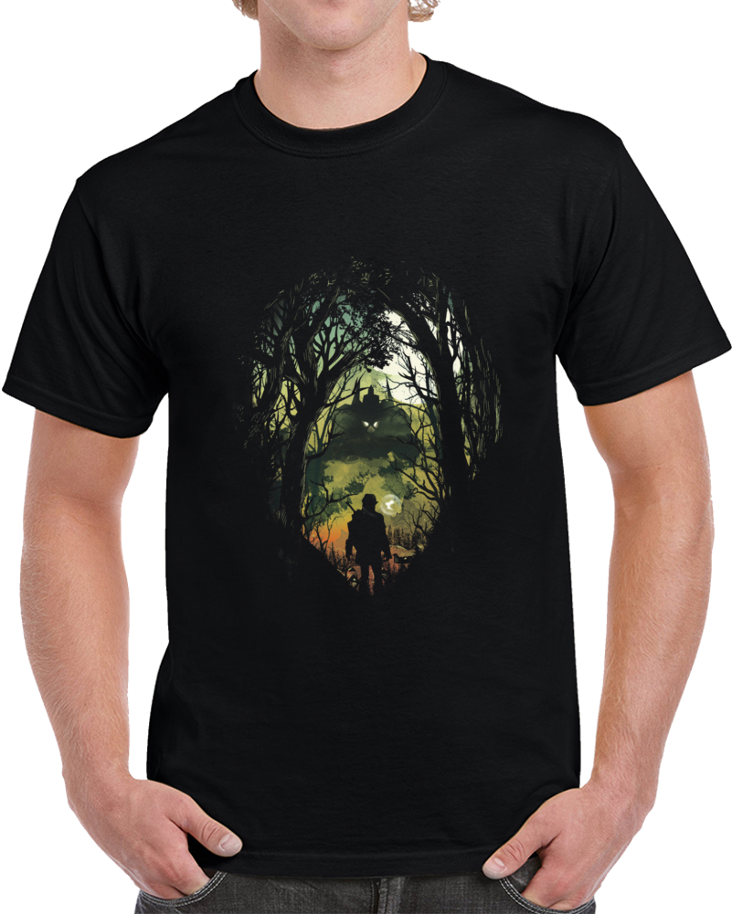 Its Dangerous To Go Alone V.2 Negative Space T Shirt