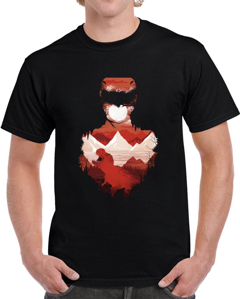 Red Ranger Negative Space T Shirt
