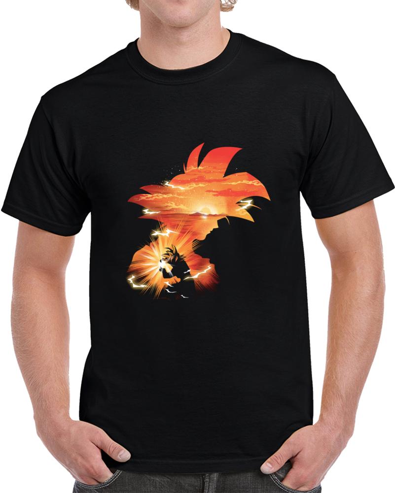 The First Super Saiyan Negative Space T Shirt