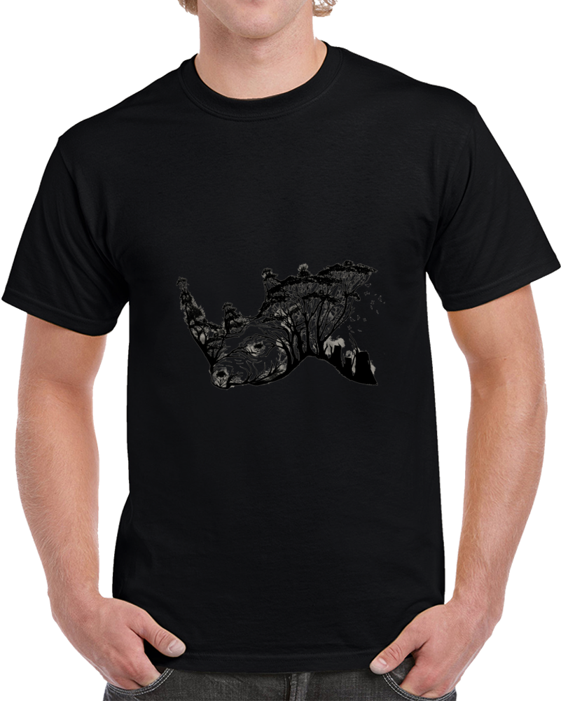 Wild Rhino Negative Space T Shirt