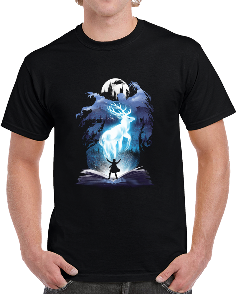 The 3rd Book Of Magic Negative Space T Shirt