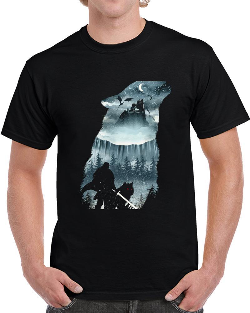 Winter Has Come Negative Space T Shirt