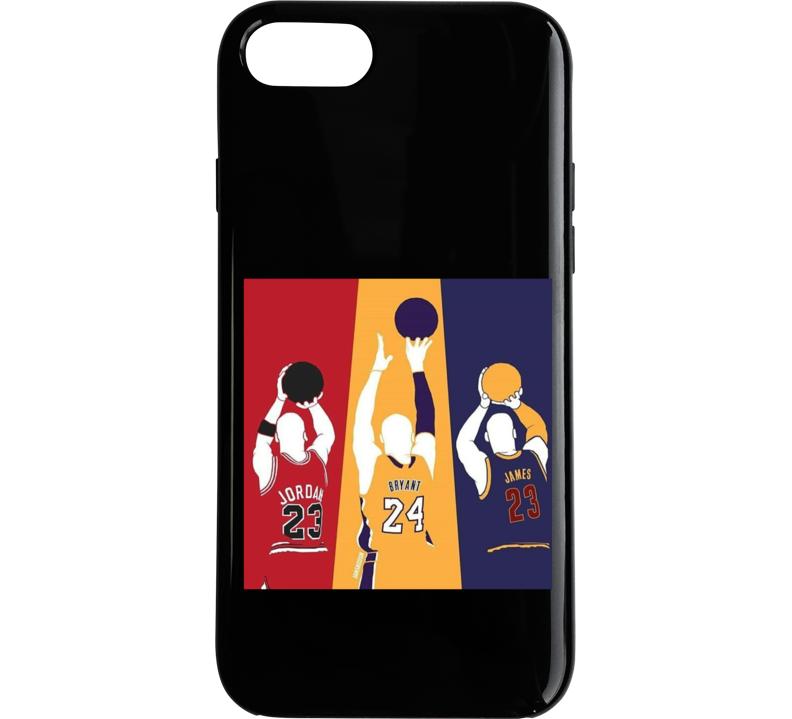 Legends Of Basketball Jordan, Bryant, James Phone Case
