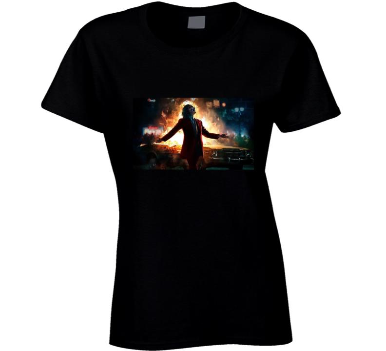 The Joker Joaquin Phoenix Ladies T Shirt