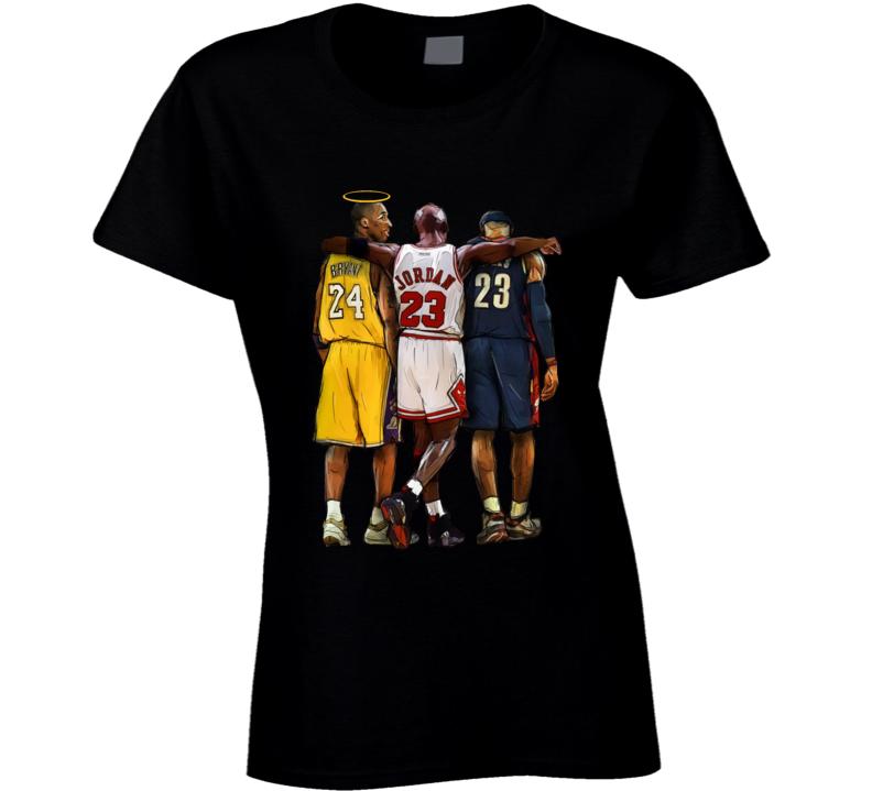 Kobe Bryant Halo Rip Ladies T Shirt