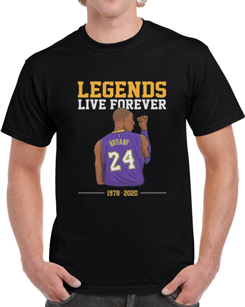 Legends Live Forever Kobe Bryant Shirt, Rip Kobe Bryant Tshirt, In Memory Of Kobe Shirt, Kobe Bryant Legends Never Die, Black Mamba  Copy T Shirt