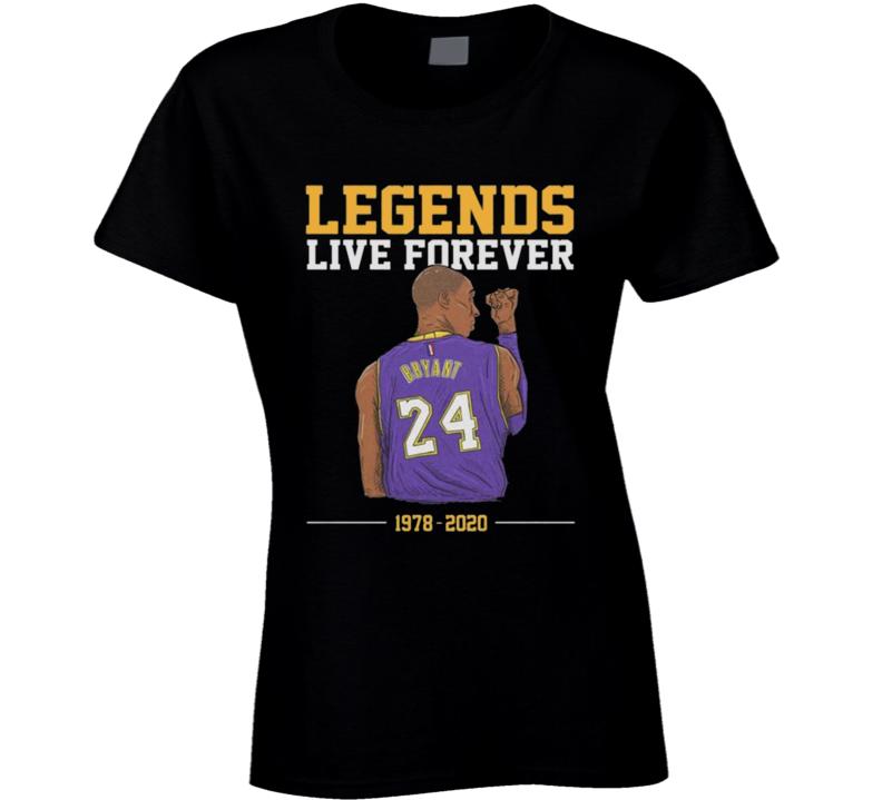 Legends Live Forever Kobe Bryant Shirt, Rip Kobe Bryant Tshirt, In Memory Of Kobe Shirt, Kobe Bryant Legends Never Die, Black Mamba  Copy Ladies T Shirt