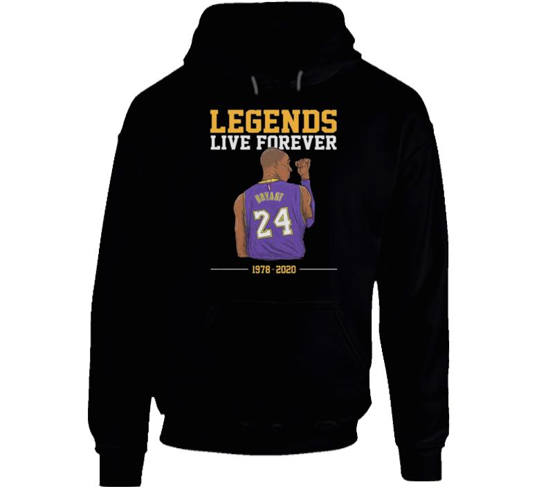 Legends Live Forever Kobe Bryant Shirt, Rip Kobe Bryant Tshirt, In Memory Of Kobe Shirt, Kobe Bryant Legends Never Die, Black Mamba  Copy Hoodie