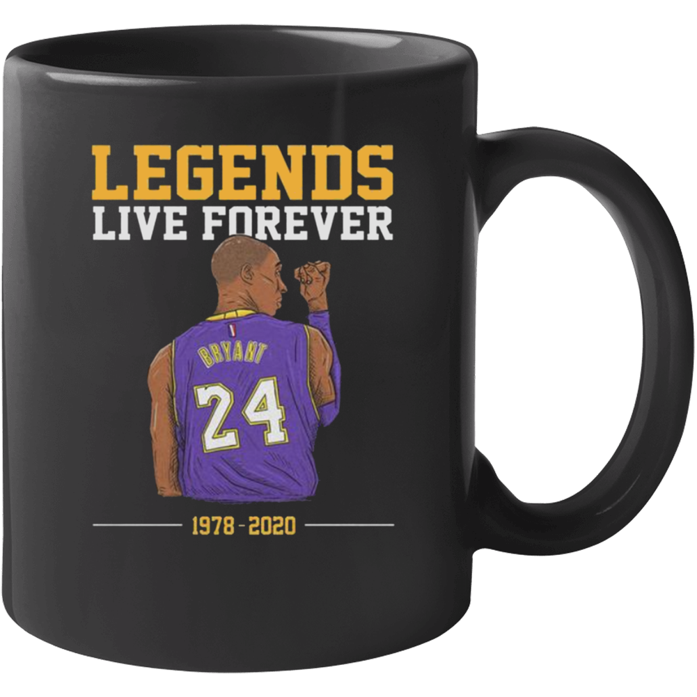 Legends Live Forever Kobe Bryant Shirt, Rip Kobe Bryant Tshirt, In Memory Of Kobe Shirt, Kobe Bryant Legends Never Die, Black Mamba  Copy Mug