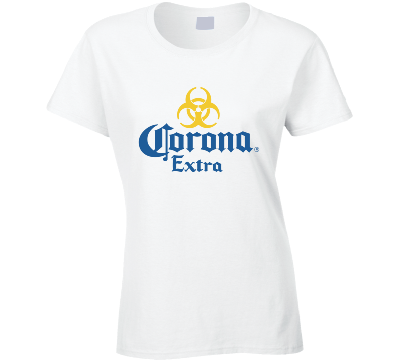 Corona Virus Biohazard Ladies T Shirt