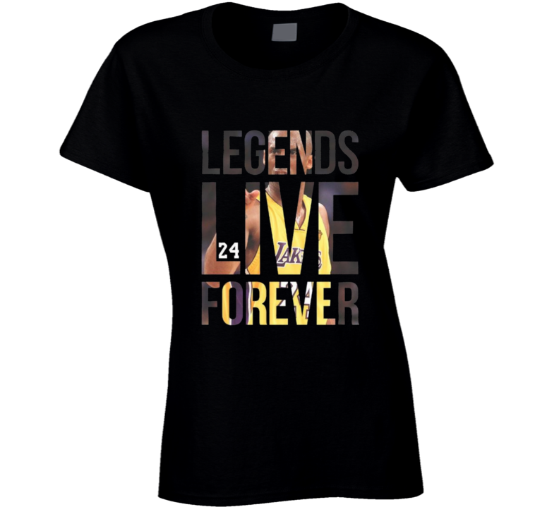 Kobe Bryant Leends Live Forever Ladies T Shirt